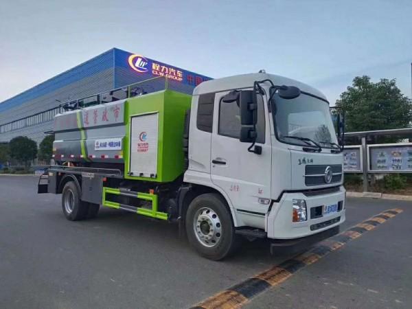 国六大型东风天锦清洗吸污车8+3图片