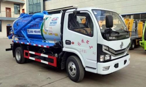 小型国六东风小多利卡吸污车,容积3.5-4.5方