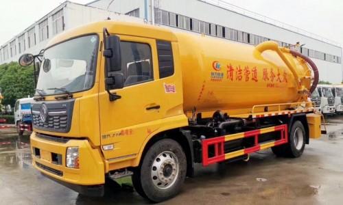 国六大型东风天锦吸污车12-14方