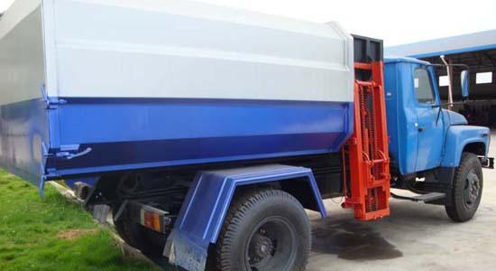 东风140挂桶垃圾车(10立方)