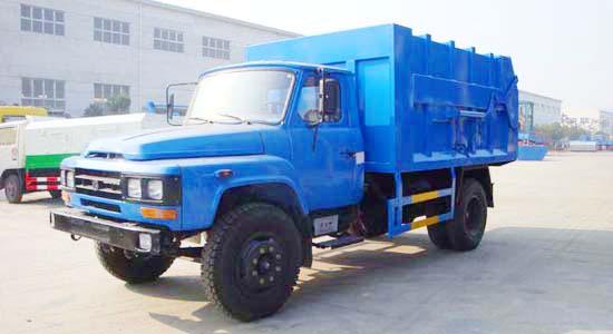 东风140对接式垃圾车(10-11立方)