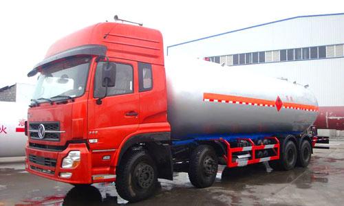 东风天龙前四后八液化气体运输车(34.5立方)